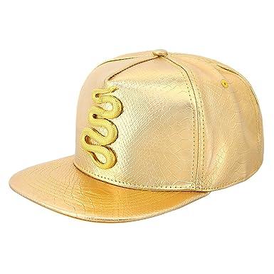 02f127560e8 90S Unisex Adjustable Alligator-Patterned Snapback Hats PU Leather Baseball  Caps Fashional Hip Hop Cap