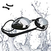 VETOKY Swimming Goggles, Adults Racing Swim Goggles UV Protection No Leaking Anti Fog Crystal Clear Vision for Men, Women and Kids 10+