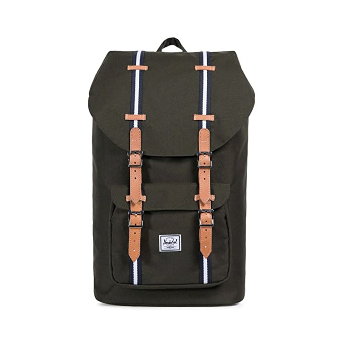 Herschel Little America Forest Green/Veggie Tan Leather - Offset: Amazon.es: Ropa y accesorios