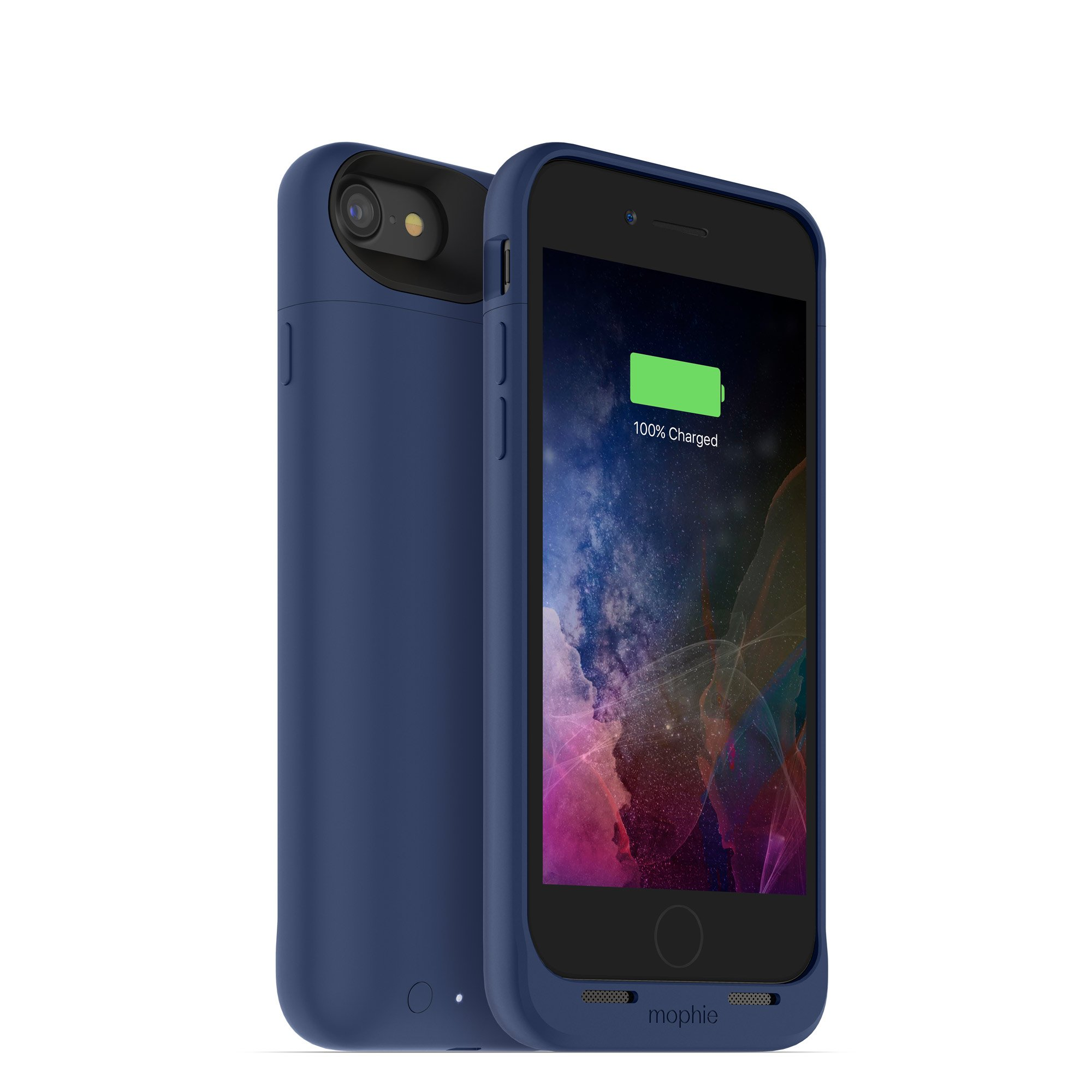 mophie juice pack wireless  - Charge Force Wireless Power - Wireless Charging Protective Battery Pack Case for iPhone 8 and iPhone 7 - Blue