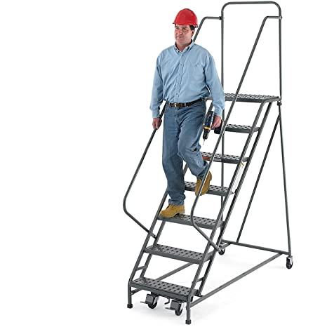 Outstanding Ega R219 Steel Ezy Climb Ladder W Handrails 12 Step 30 Squirreltailoven Fun Painted Chair Ideas Images Squirreltailovenorg