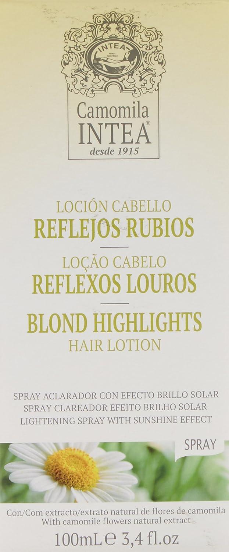 Camomila Intea, Loción para cabello (reflejos rubios) - 100 ml.: Amazon.es: Belleza