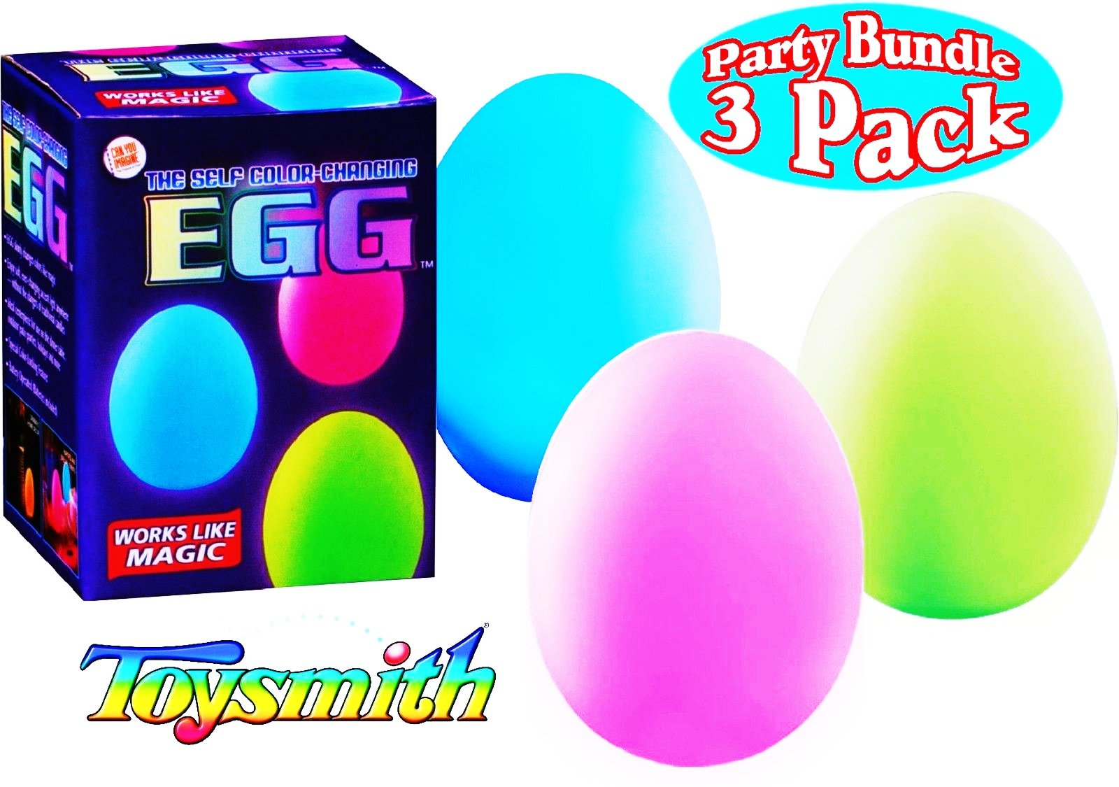 Can You Imagine Self Color Changing Eggs Party Bundle - 3 Pack For Ages 5+