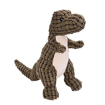 iBaste Juguete Entrenamiento de Perros Peluches Mascotas Squeak Puppy Toys Juguetes de Sonido Dinosaurio Interactivo Juguete