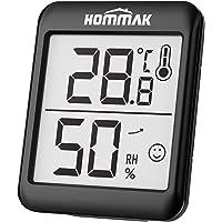 Hommak Mini Higrómetro Termómetro, Digital Termohigrómetro Interior, Medidor para Temperatura y Humedad, Casa, Hogar…