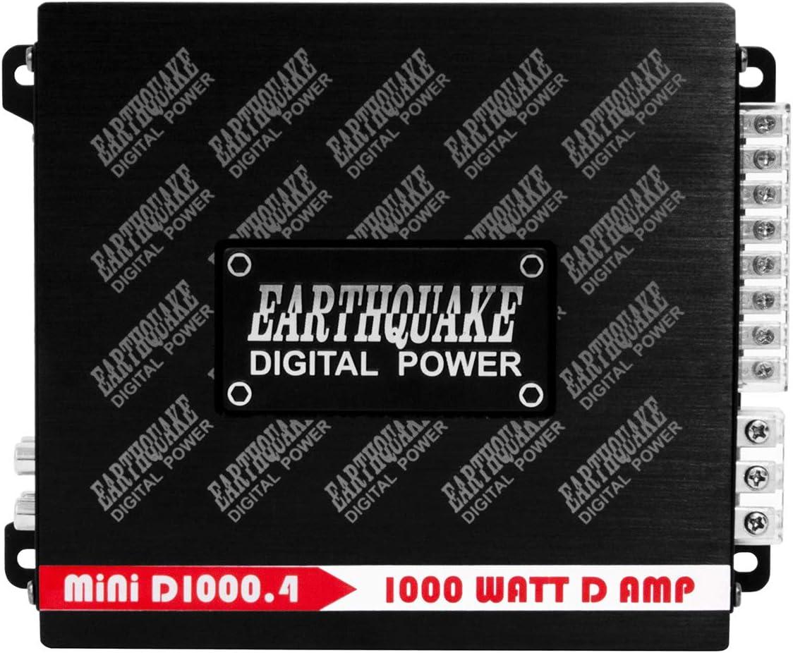 Earthquake Sound Mini D1000.4 Stereo Class D 4-Channel Car Amplifier 1000 Watts Gen 2