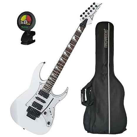 Ibanez RG450DXBWH® - Guitarra eléctrica con bolsa y afinador