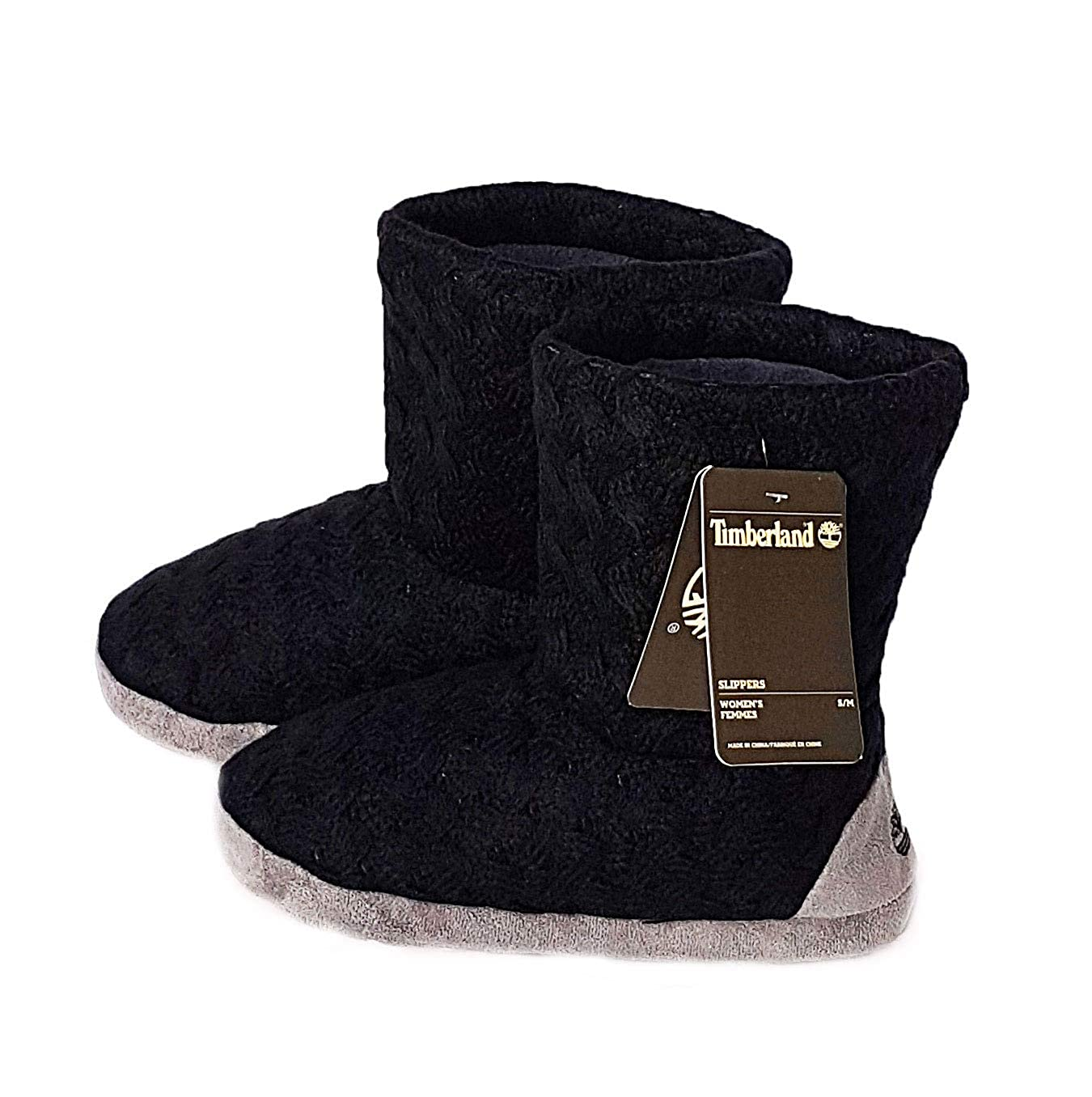 7a5aabab1069 Timberland Slipper Boots Indoor Ladies Girls Black Knitted Style   Amazon.co.uk  Shoes   Bags
