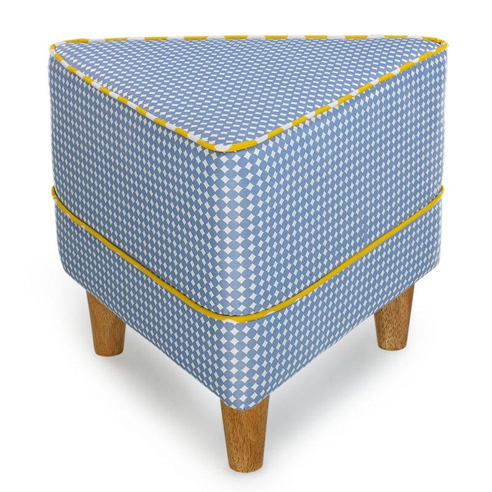 Creative Bedroom Stool Geometric Children's Stool European Footstool Fabric Sofa Stool Shoe Bench Bed Stool Dressing Stool Solid Wood Stool Living Room Stool Coffee Table Stool 5040cm (Color : 4)