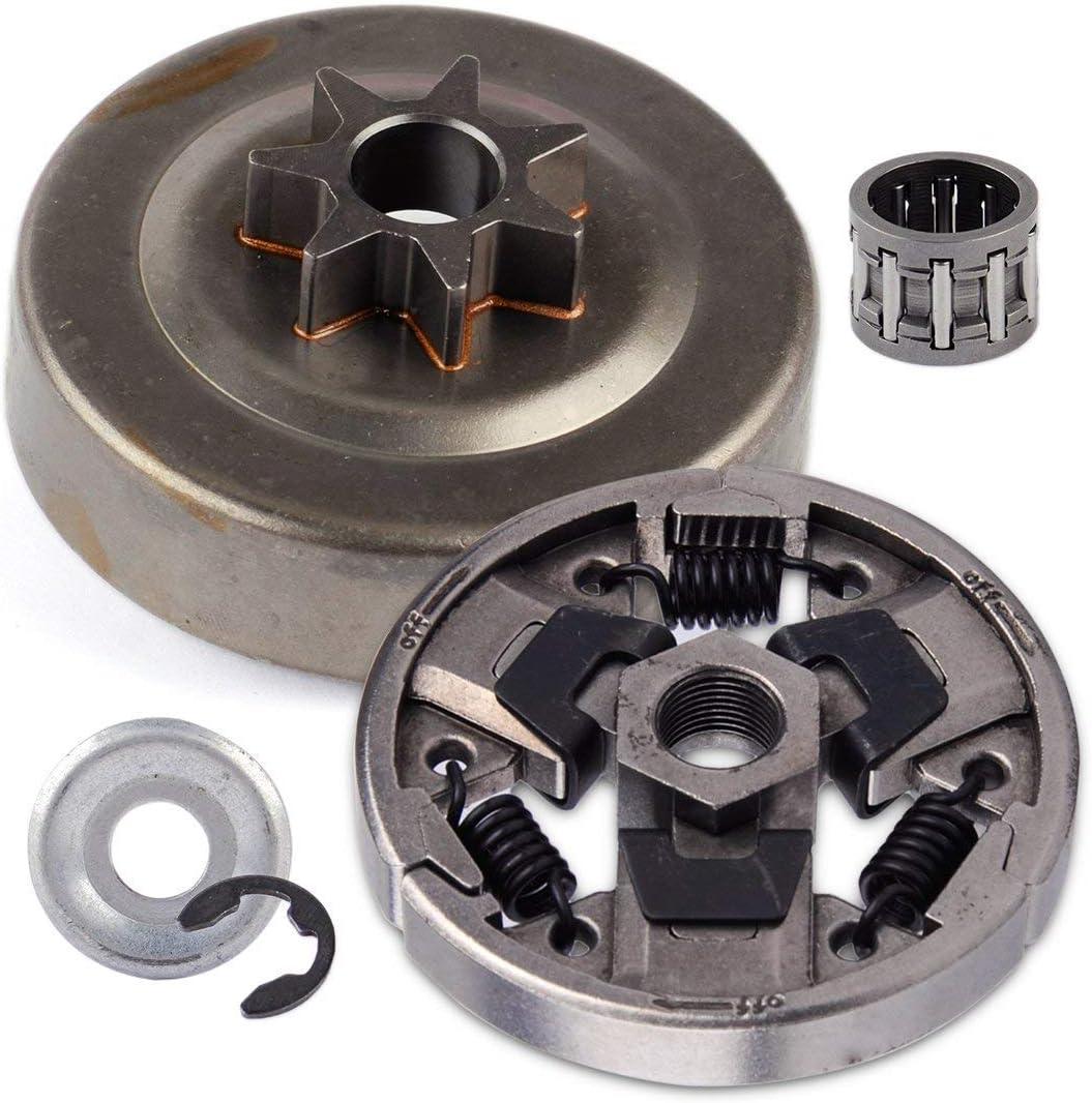 WANWU Compatible Stihl 024 026 MS240 MS260 MS270 MS280 Kit de Embrague de piñón .325 rodamientos de Paso