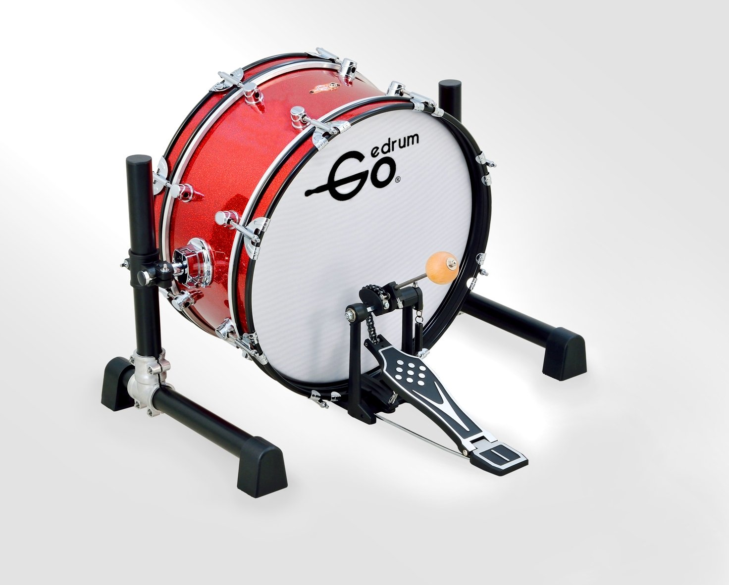 Goedrum GBD18 18 inch Electric Kick Drum or Electronic Bass Drum Color Red
