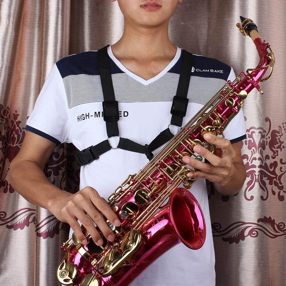 Correa de Hombro para Saxofón Correa de Arnés de Saxofón Ajustable ...