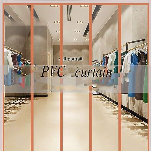 Strip Curtain Door Kit Warehouse Doorways Unit Cooler Room 42 x 84 Set of Clear PVC Vinyl Strips for Walk in Freezer Commercial Kitchen Steel Universal Mount Hardware Included
