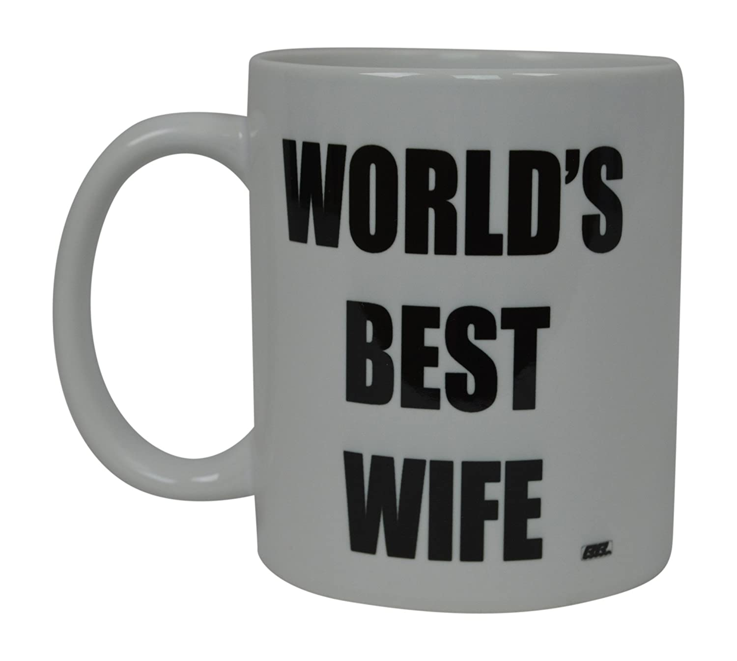 Rogue River Tactical RR-11145 Best Funny Coffee Mug Worlds Best Wife Novelty Cup Wives Great Gift Idea For Mom Mothers Day Mom Grandma Spouse Bride Lover Or Parent Best