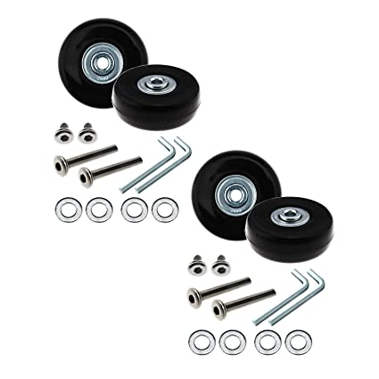 D2D Ruedas de Repuesto para Equipaje OD 50 mm Kit de Ejes de Repuesto de Metal, 1 par/2 Pares