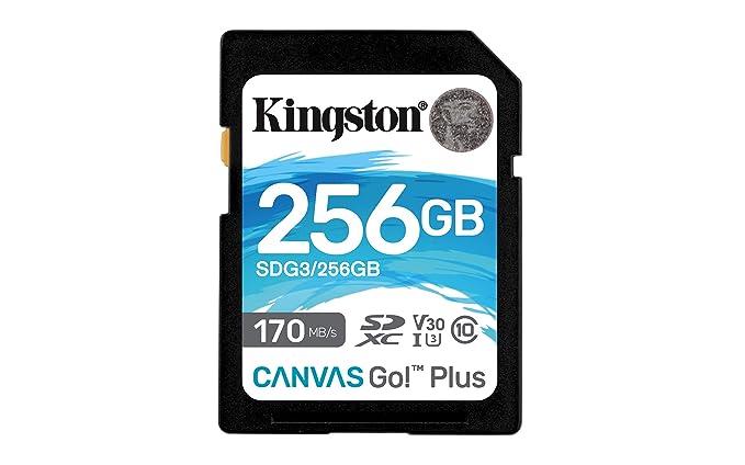 Kingston SDG3/256GB Tarjeta de memoria SD (256GB SDXC Canvas Go Plus 170R C10 UHS-I U3 V30 )