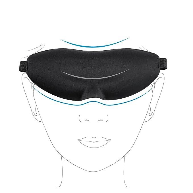 12 opinioni per BROADCARE Mascherina Per Dormire Eye Mask 3D Sagomata Gomma Piuma di Memoria Con