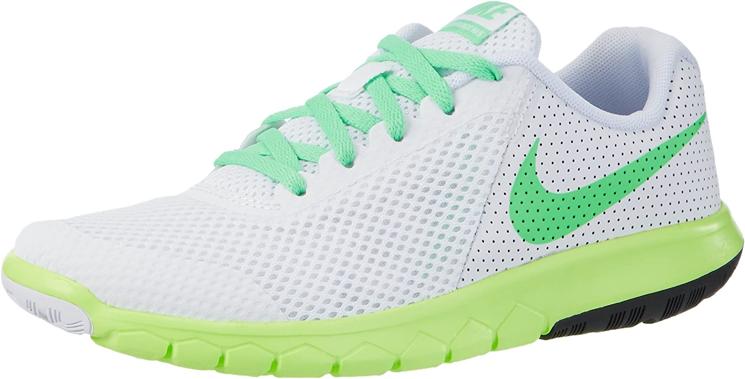 Nike Flex Experience 5 GS, Sneakers Infantil, Blanco (White/Electro Green/Ghost Green/Black), 37.5 EU: Amazon.es: Zapatos y complementos