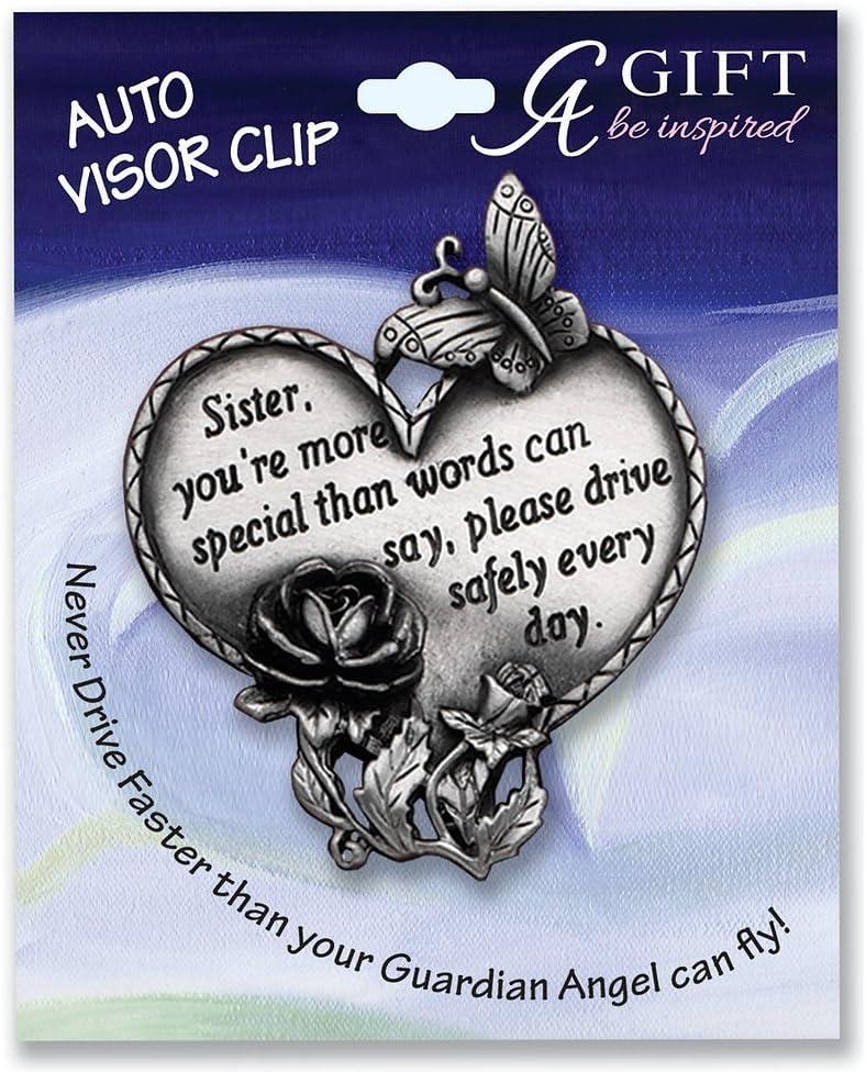 Sister 2-3//4 CA Gift KVC320 Heart Visor Clip