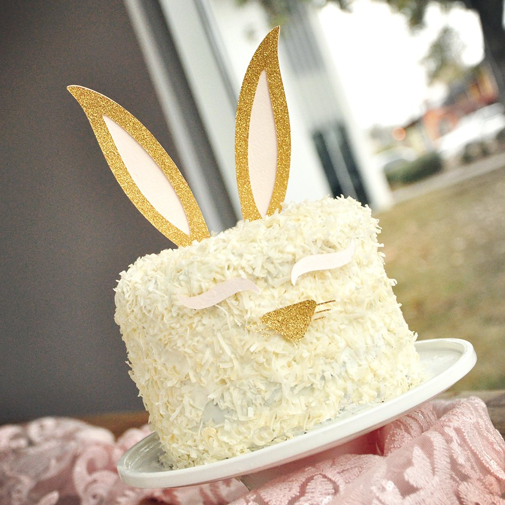 Amazon.com: Bunny Ear Cake Topper. Bunny Ears, Eyelashes, and Nose ...