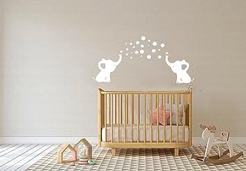 Amazoncom LHKSER Cute Elephant Blowing Bubbles Wall Decal Vinyl - Elephant wall decalsamazoncom elephant bubbles wall decal nursery decor baby