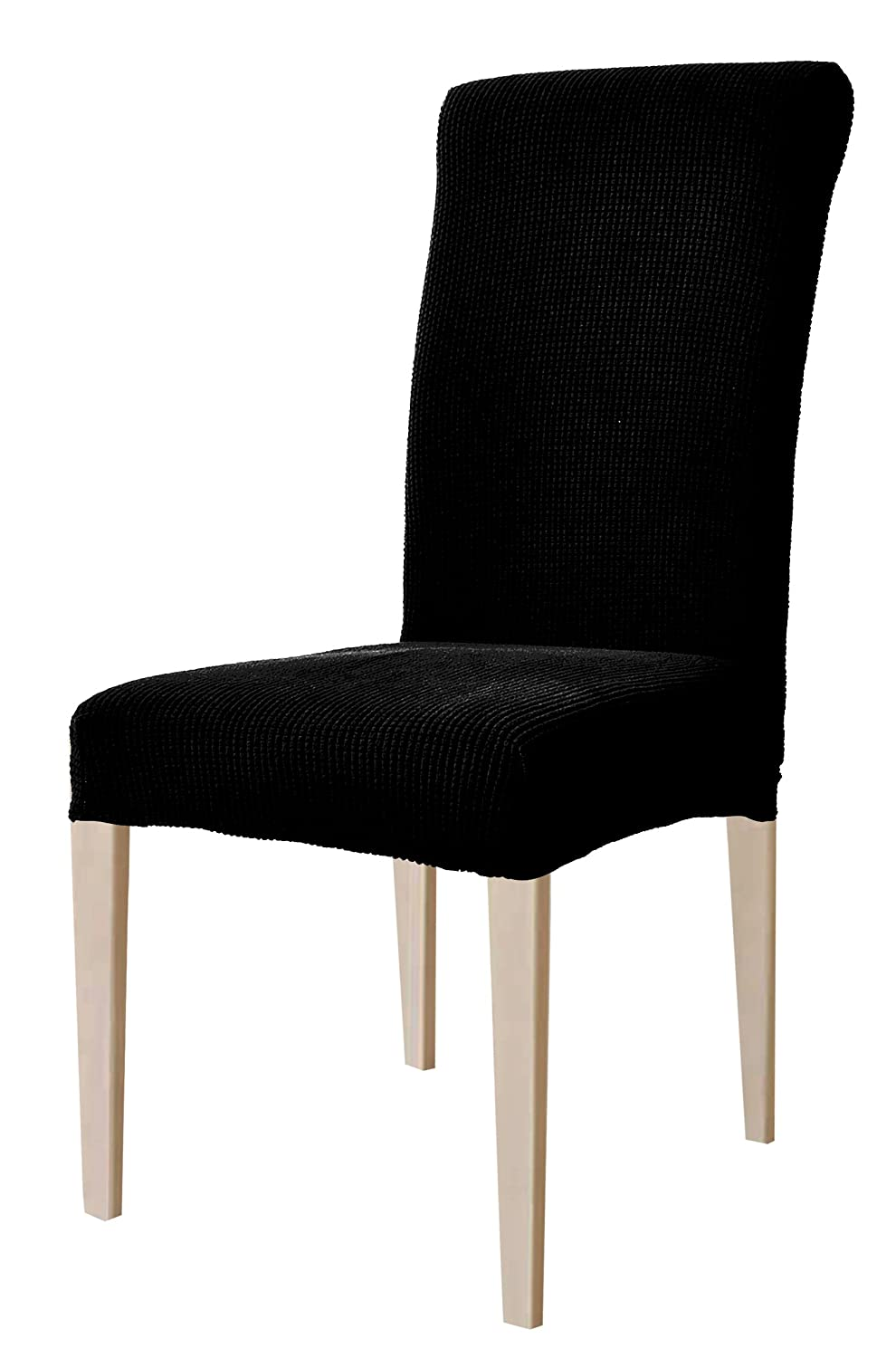 DyFun Jacquard Spandex Stretch Dining Room Chair Slipcovers (2, Coffee) Ltd chair cover