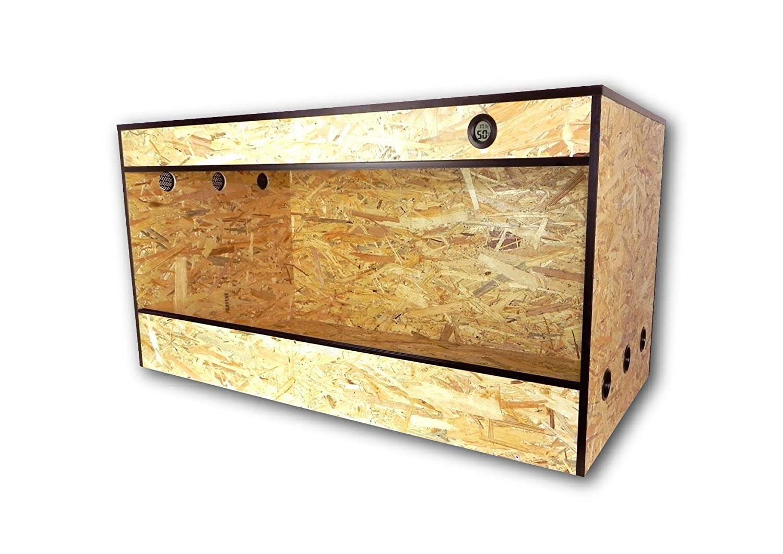 Terrabasic RepCage 80x 50x 50, ventilación lateral, incluye termómetro/higrómetro ventilación lateral