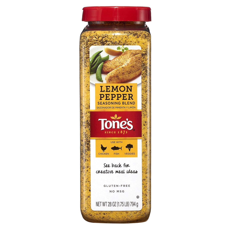Tone's Lemon Pepper Blend -Value 2 Pack 28oz Each shaker