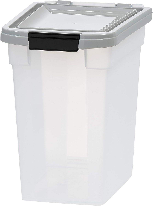 IRIS USA, Inc. 12.75 Quart Airtight Pet Food Container, Gray