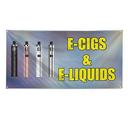 Amazon.com : E-Cigs & E-Liquids Outdoor Fence Sign Vinyl Windproof Mesh Banner With Grommets - 4ftx8ft, 8 Grommets : Office Products