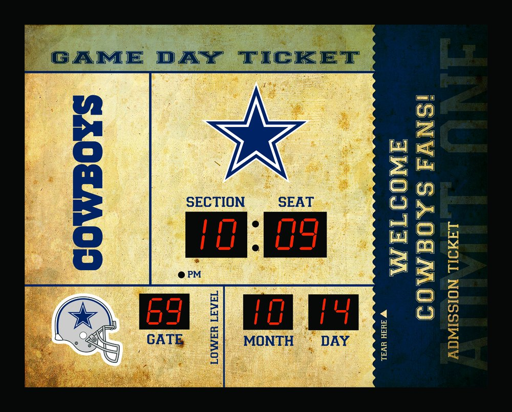 Team Sports America Dallas Cowboys Bluetooth Scoreboard Wall Clock by Team Sports America