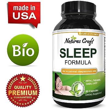 Natural Sleep Aid Pills the Best Herbal Sleeping Formula with Melatonin, GABA, L Theanine