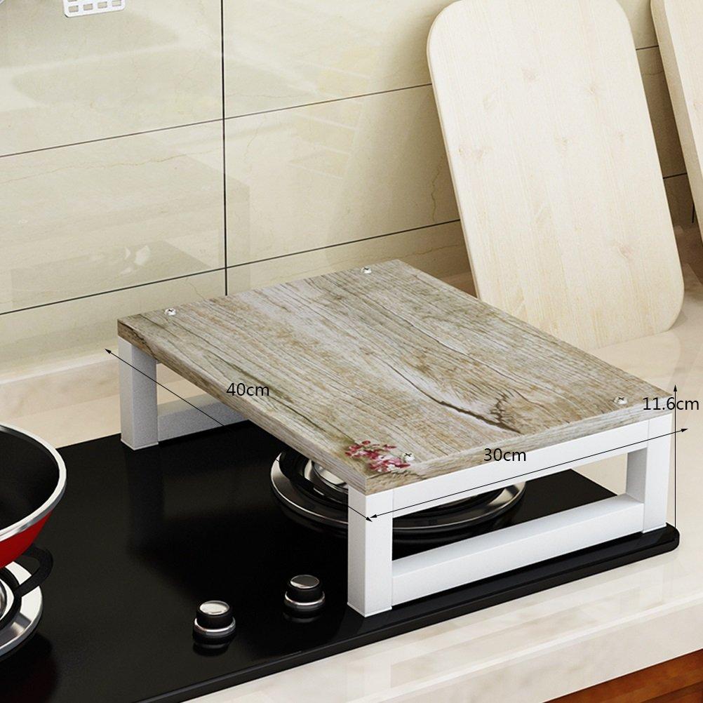 AJZXHE Estantes Soportes de la Cocina de Inducción Sub-Juegos Junta Cocina Estante Estufa de Gas Cocina de Gas Rack Rack Microondas Rack (40x30x11.6cm) - Estante de Almacenamiento (Color : Black)