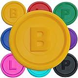 SchwabMarken Marcadores Fichas con -B-, P- o -L- en 14 Colores Diferentes
