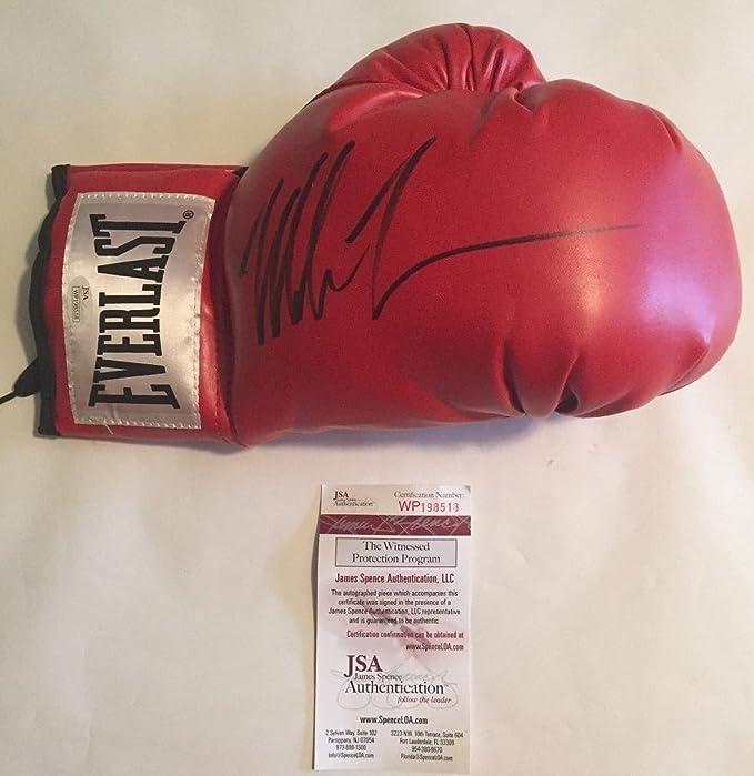Mike Tyson Firmado Guante Rojo Everlast Boxeo: Amazon.es: Deportes y aire libre