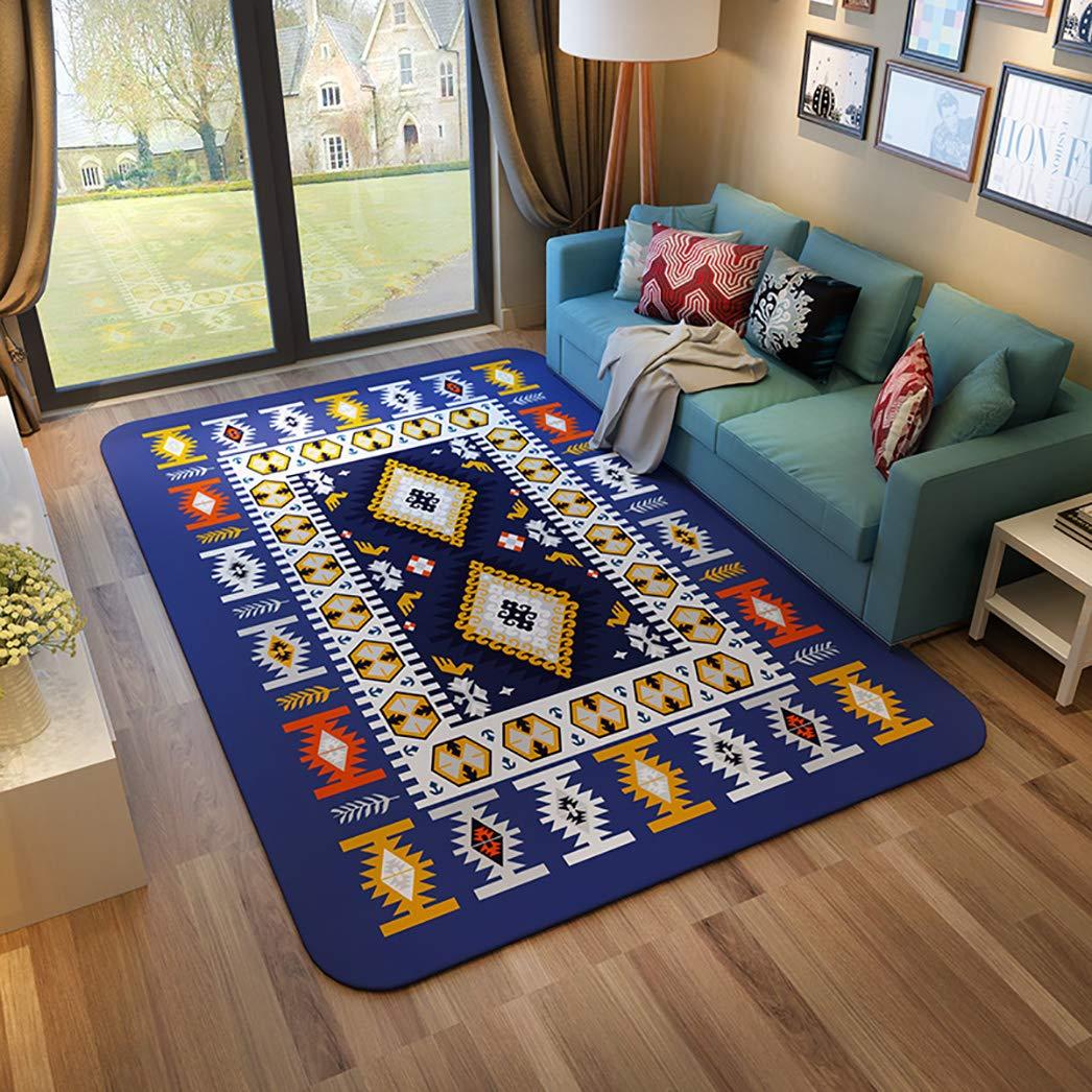 フランネルラグ、モダンなリビングルームベッドルームダイニングルーム子供部屋カーペットの装飾 -長方形-D-120×160センチメートル(47×63インチ) B07RLLYHCB 長方形-D 120×160センチメートル(47×63インチ)