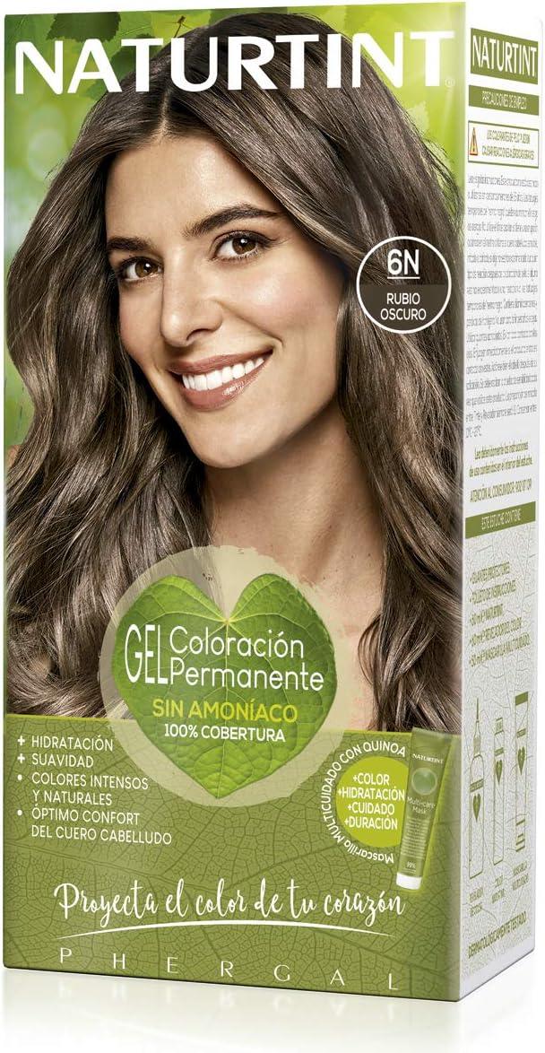 Naturtint | Coloración sin amoniaco | 100% cobertura de canas | Ingredientes vegetales | Color natural y duradero | 6N Rubio Oscuro | 170ml