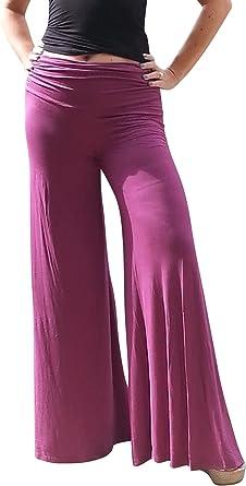 Maya Antonia-TALL SIZE-Palazzo Pants Pink-White Tie-Dye Wide Leg Slimming