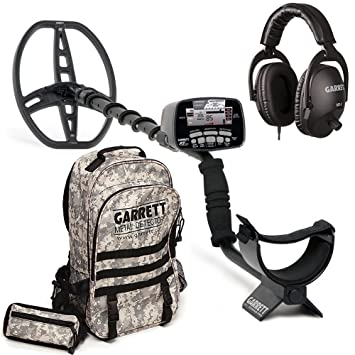 Garrett AT Pro Detector de metales con camuflaje mochila
