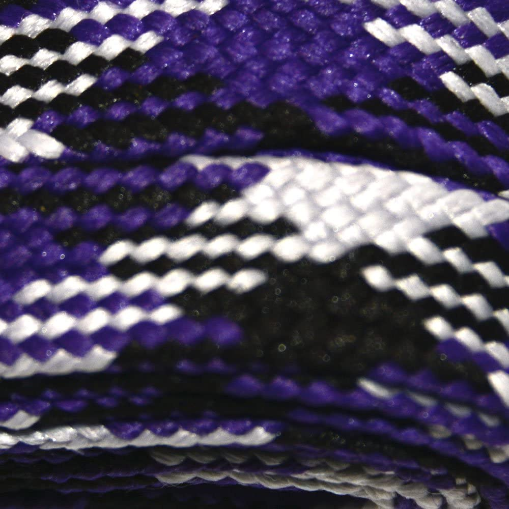 Roller Derby 10mm Wide for Boots Skates Flat and Hockey Skates Derby Laces Purple Camouflage