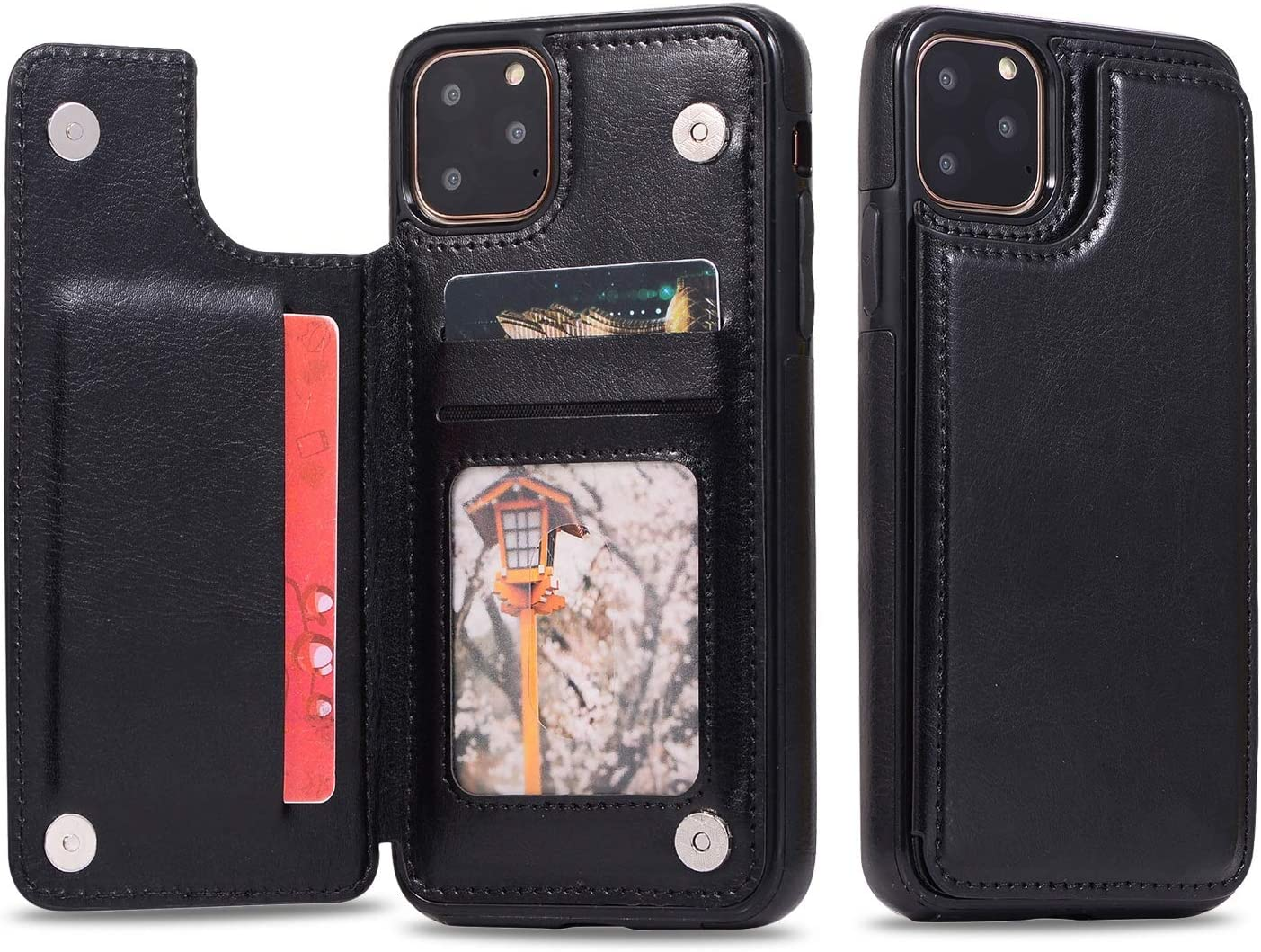 XINHUANG Leather Phone Case for iPhone 8 11 Pro Max X 7 8 Plus 5 5s Business Card Holders Retro PU Case for iPhone Xs Max XR 6 6s 7 8 XS (Color : A, Size : Iphone6/6S Plus)