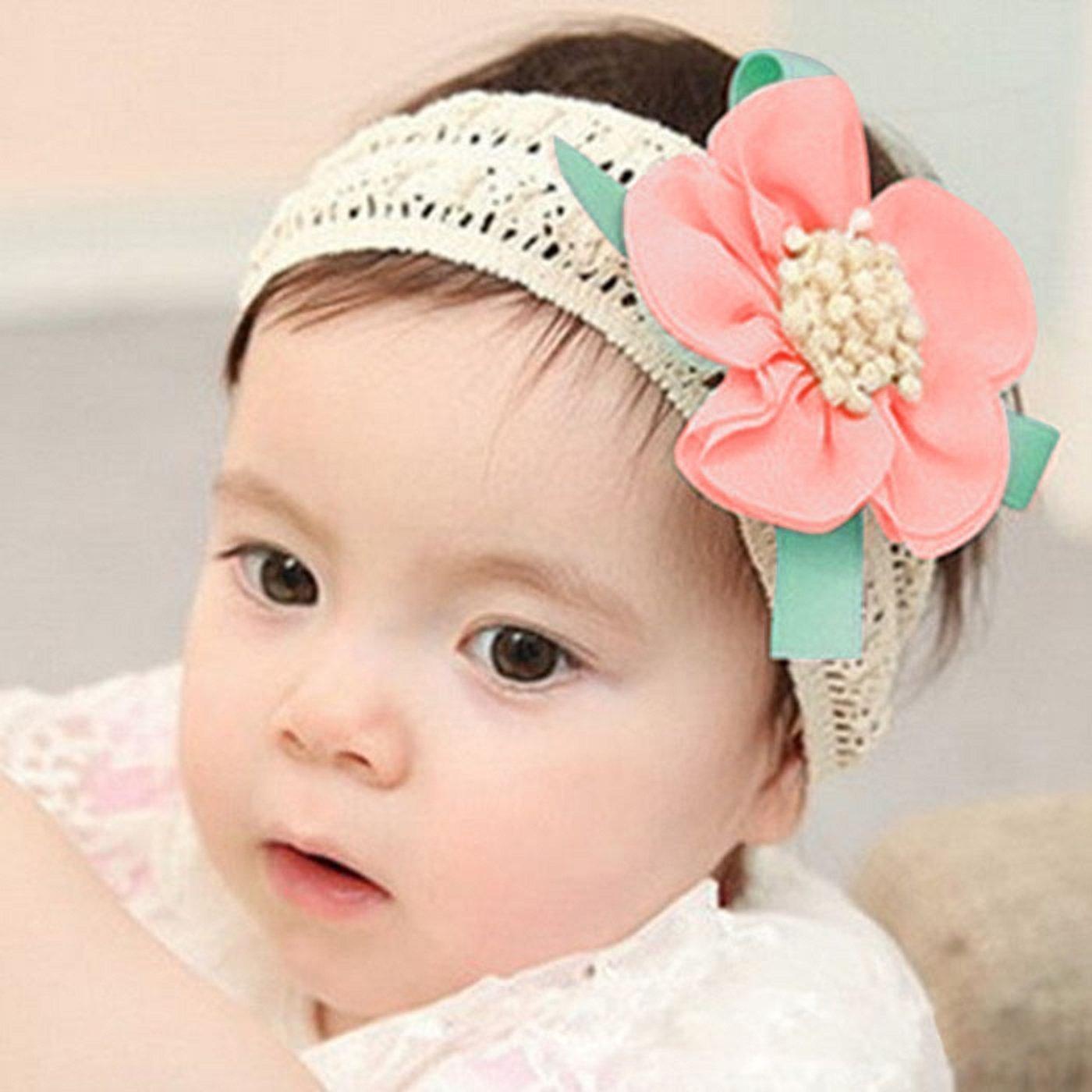 chiffon bowknot kopf wickelt elastische turban blume stirnband baby haarband