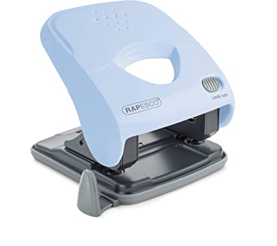 TTO Office Hole Punch 40 Sheets Metal Blue