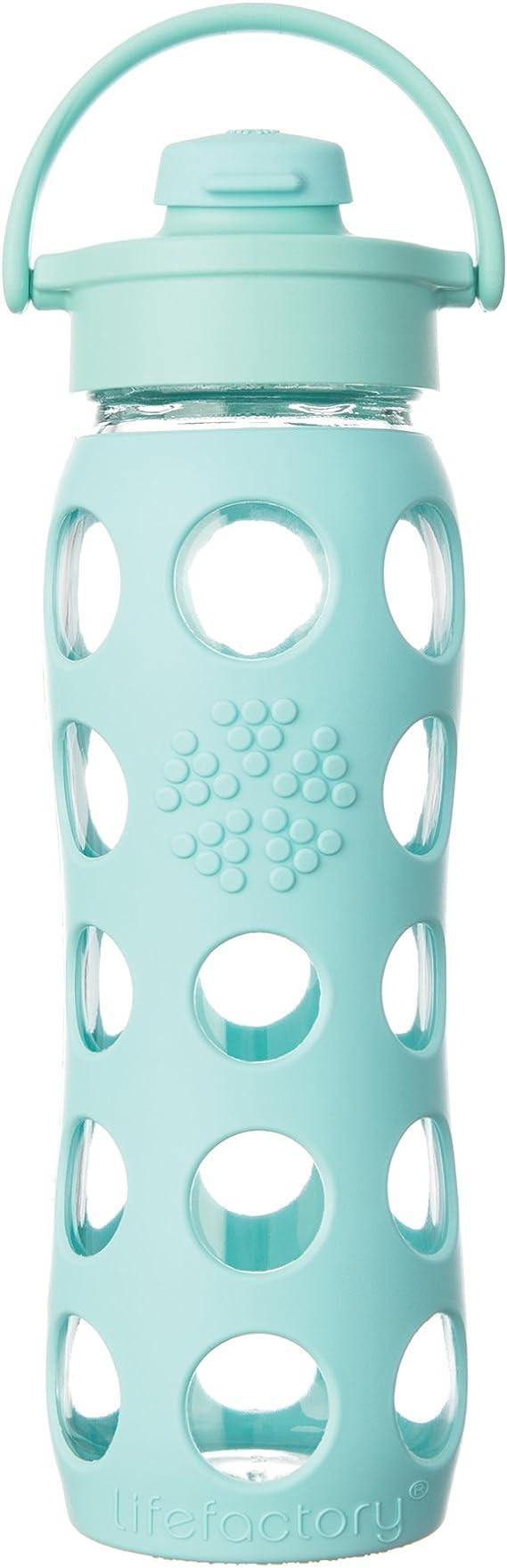 Lifefactory - Botella de cristal (con tapa con bisagra, 650 ml ...