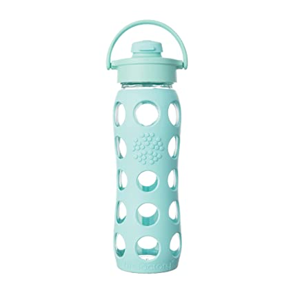 Lifefactory - Botella de cristal (con tapa con bisagra, 650 ml), color