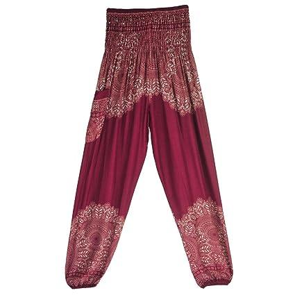 Pantalones de Yoga Ancho Mujer, ❤ Absolute Pantalones Harem tailandeses de Las Mujeres de