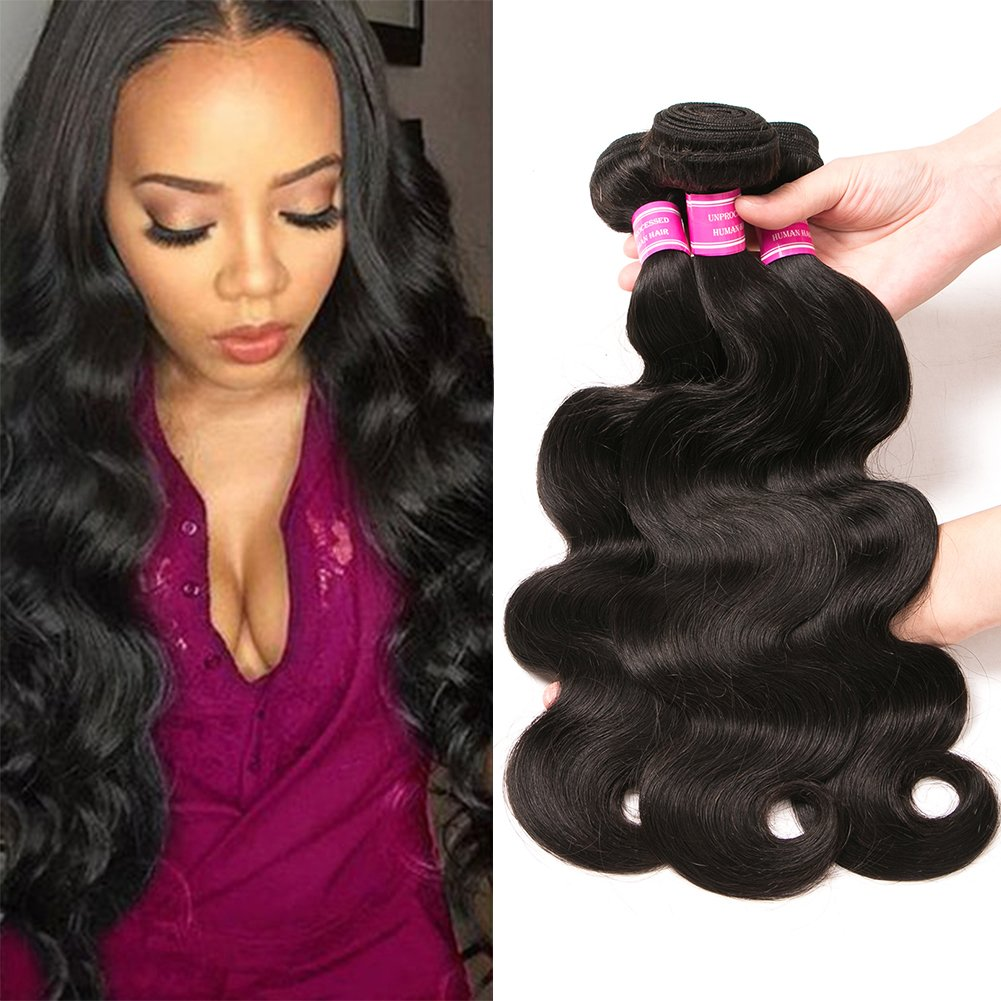 Amazon Qinmei Brazilian Hair Body Wave Real Virgin Human Hair