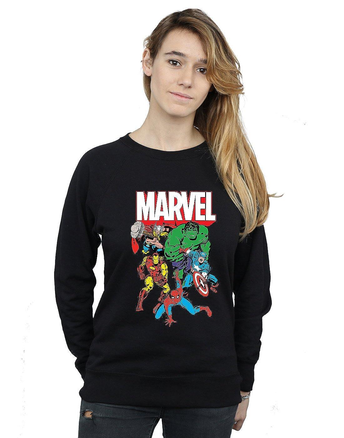 Marvel Mujer Hero Group Camisa De Entrenamiento