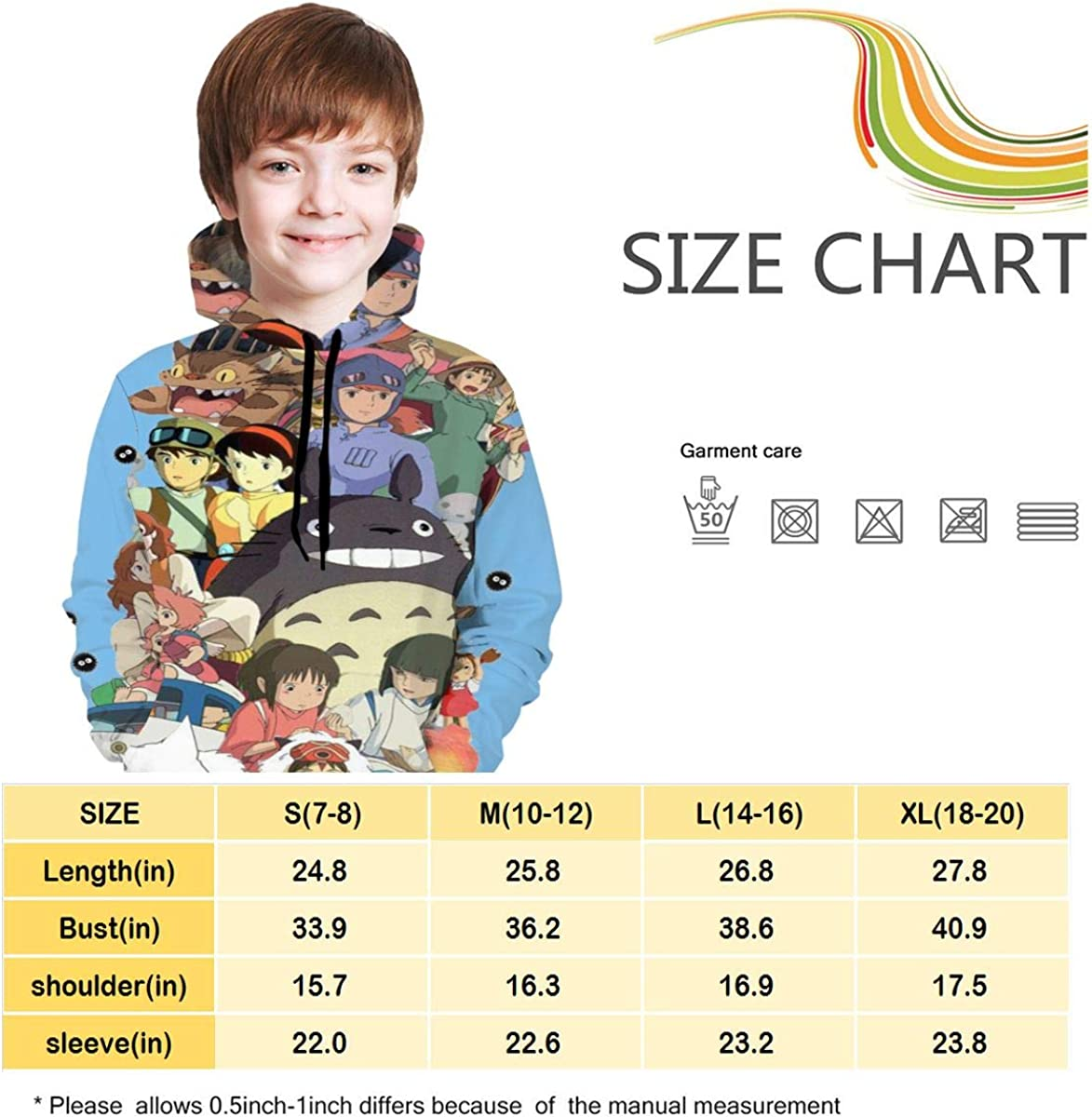 Victor Valentine Kid//Youth S-tudio Gh-ibli Unisex Sweater Kids 3D Print Graphic Pullover Hoodie Sweatshirts Pocket