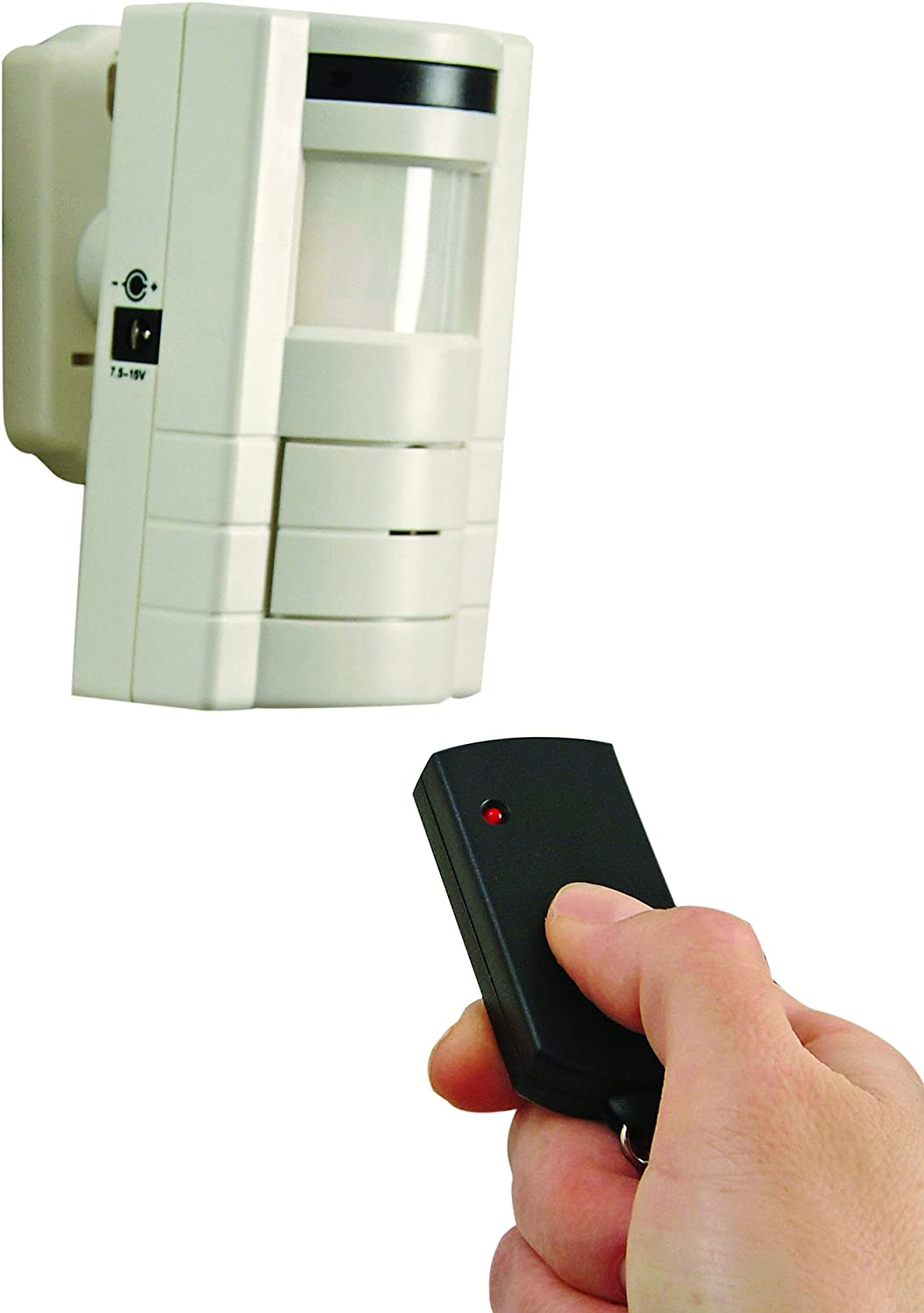 Xodus Innovations HS4370B Battery Powered Adjustable Motion Sensor Alarm with Remote Control